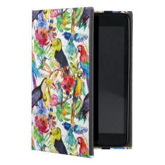 Perroquets colorés d'aquarelle protection iPad mini