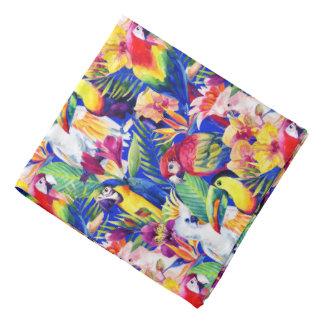 Perroquets d'aquarelle bandanas