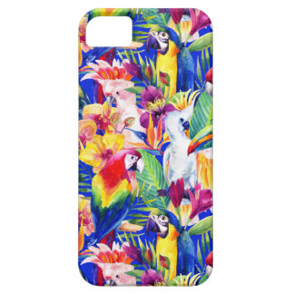 Perroquets d'aquarelle étui iPhone 5