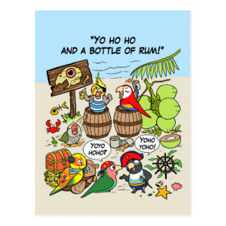 Perroquets de pirate carte postale