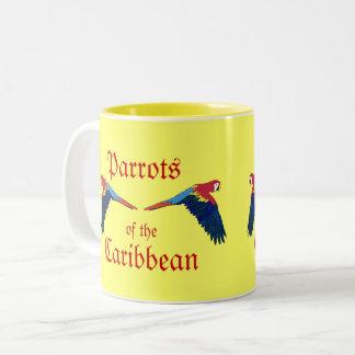 Perroquets du jaune des Caraïbes Tasse 2 Couleurs