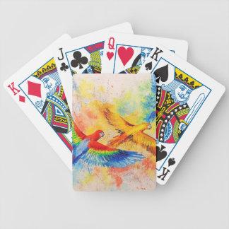 Perroquets en vol jeu de cartes