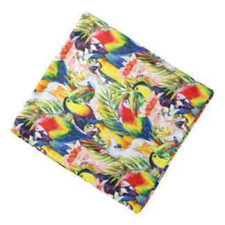 Perroquets et palmettes bandanas