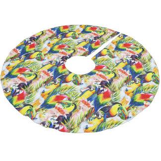 Perroquets et palmettes jupon de sapin en polyester brossé