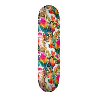 Perroquets et palmettes skateboard 21,6 cm