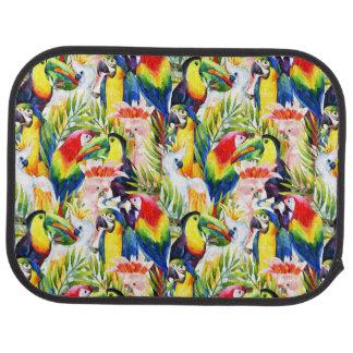 Perroquets et palmettes tapis de voiture