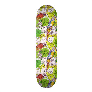 Perroquets tropicaux skateboards personnalisés