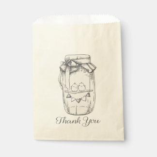 Perruche de pot de maçon de Merci épousant la Sachets En Papier