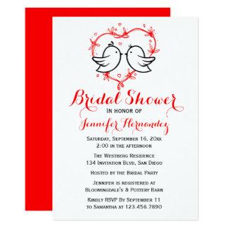 Perruches de noir de douche et mariage nuptiales carton d'invitation  12,7 cm x 17,78 cm