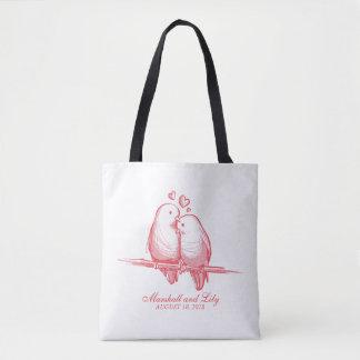 Perruches douces Valentine épousant le sac