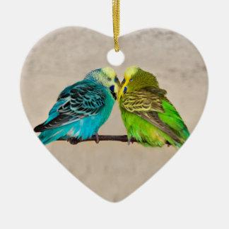 Perruches en ornement d'amour