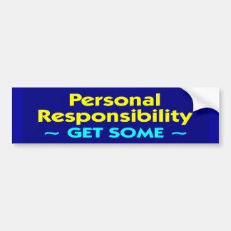 personal_responsibility autocollant pour voiture
