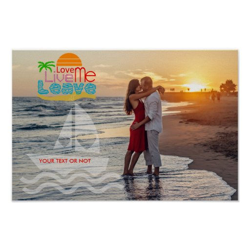 Personalise Poster / Sea Sun Beach / Your picture