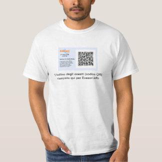 Personalizzato de bollino di onestà d'escroquerie t-shirt