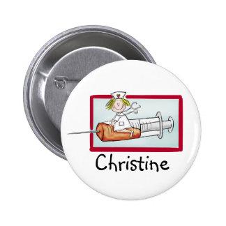 Personlaize avec le nom - bouton pour Supernurse Pin's Avec Agrafe