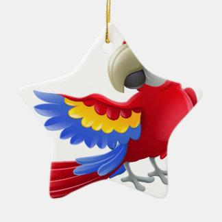 Personnage de dessin animé d'animal de perroquet ornement étoile en céramique