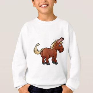 Personnage de dessin animé d'animaux de ferme de sweatshirt