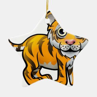 Personnage de dessin animé d'animaux de safari de ornement étoile en céramique