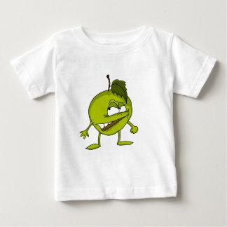 Personnage de dessin animé d'Apple avec un sourire T-shirt Pour Bébé