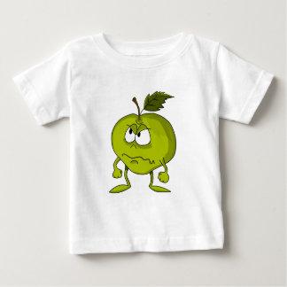 Personnage de dessin animé d'Apple avec un visage T-shirt Pour Bébé