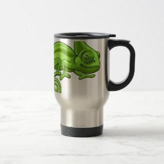Personnage de dessin animé de caméléon mug de voyage