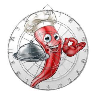 Personnage de dessin animé de chef de poivre jeu de fléchettes