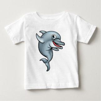 Personnage de dessin animé de dauphin t-shirt pour bébé