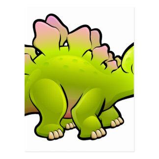 Personnage de dessin animé de dinosaure de cartes postales