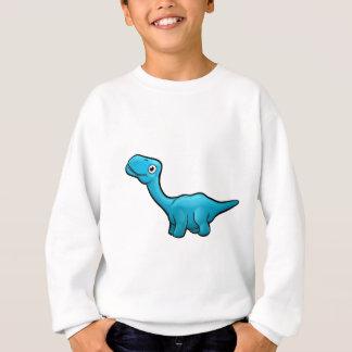 Personnage de dessin animé de dinosaure de sweatshirt