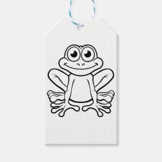 Personnage de dessin animé de grenouille étiquettes-cadeau