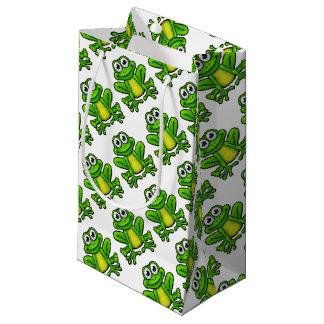 Personnage de dessin animé de grenouille petit sac cadeau