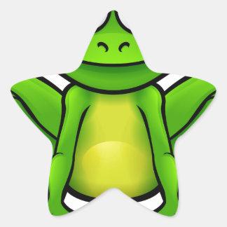 Personnage de dessin animé de grenouille sticker étoile