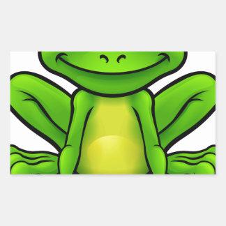 Personnage de dessin animé de grenouille sticker rectangulaire
