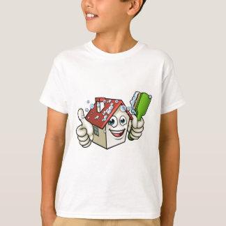 Personnage de dessin animé de nettoyage de Chambre T-shirt