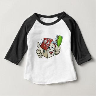 Personnage de dessin animé de nettoyage de Chambre T-shirt Pour Bébé