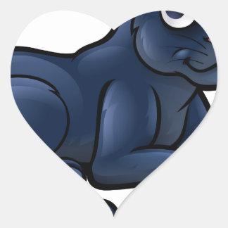 Personnage de dessin animé de panthère noire sticker cœur