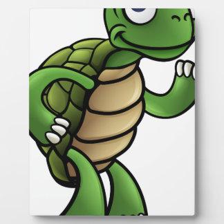 Personnage de dessin animé de tortue plaque photo