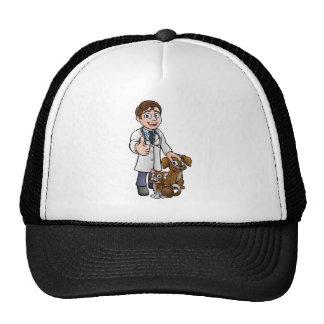 Personnage de dessin animé de vétérinaire avec le casquette trucker