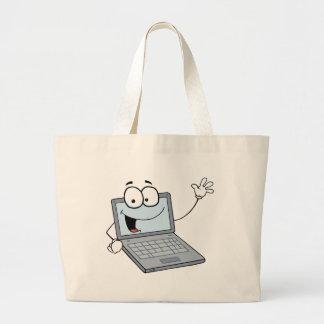 Personnage de dessin animé d'ordinateur portable o sac en toile jumbo