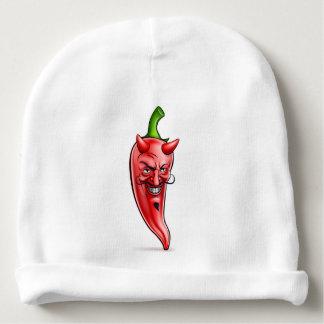 Personnage de dessin animé d'un rouge ardent de bonnet de bébé