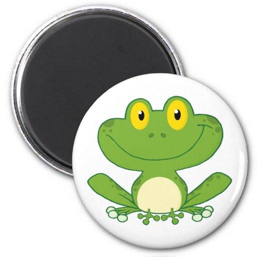 Personnage de dessin animé mignon de grenouille magnets