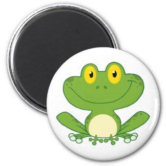 Personnage de dessin animé mignon de grenouille magnet rond 8 cm