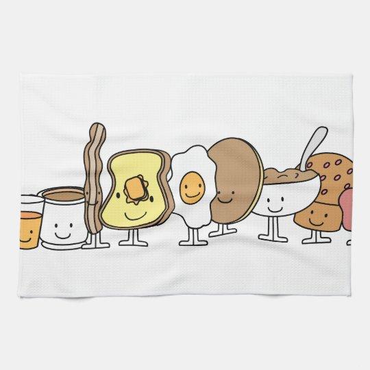 Personnages de dessin anim de petit d jeuner linges de - Dessin anime de cuisine ...