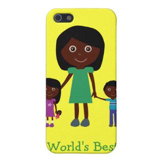 Personnages de dessin animé ethniques mignons de l étui iPhone 5