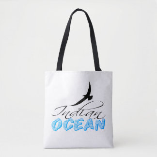 Personnalisable blanc de l'Océan Indien Tote Bag