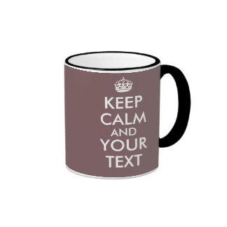 Personnalisable gardez le modèle calme de tasses