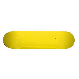 Personnalisable jaune plateaux de planche à roulettes