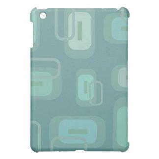 Personnalisable moderne rétros rectangles verts/bl coque iPad mini