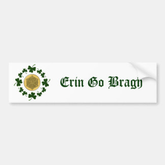 PERSONNALISABLE !  Shamrocks - Celtic irlandais Autocollant De Voiture