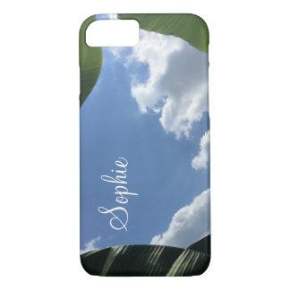Personnalisé avec la photo du ciel Feuille-Encadré Coque iPhone 7